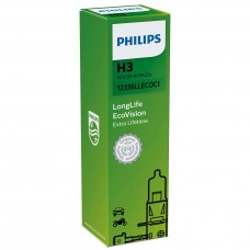 Лампа H3 12V 55W PK22s LongLife EcoVision PHILIPS